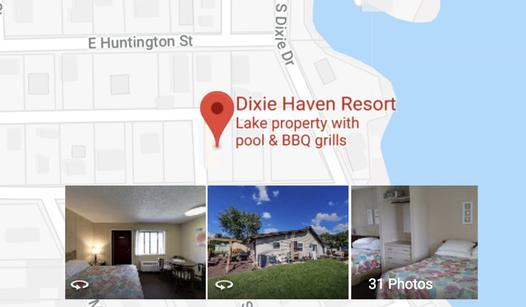 Dixie haven Resort Location Location